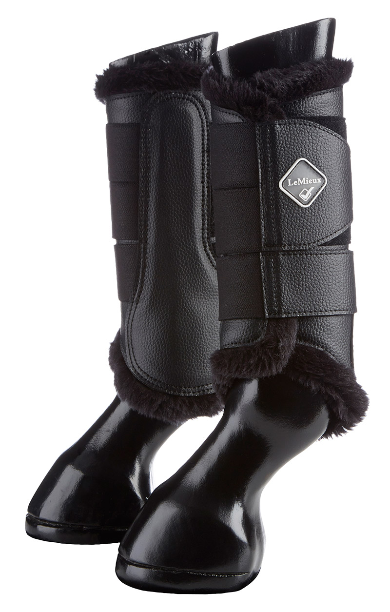 Lemieux Fleece Brushing Boots Black/Black Fleece